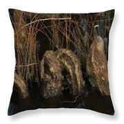 Cypress Knee Monster Throw Pillow