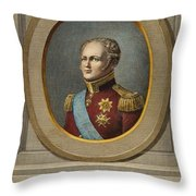 Czar Alexander I Of Russia Throw Pillow