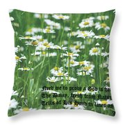 Daisy Fresh Throw Pillow