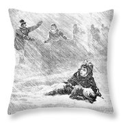 Dakota Blizzard, 1888 Throw Pillow by Granger