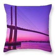 Dartford Bridge Throw Pillow