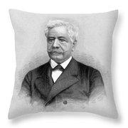 De Lesseps, French Diplomat, Suez Canal Throw Pillow