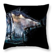 Deep-sea Hatchetfish Throw Pillow