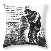 Depression Cartoon, 1932 Throw Pillow