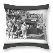 Depression Travlers Throw Pillow