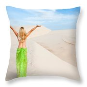Desert Woman Throw Pillow