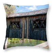 deShutes River Bridge Throw Pillow