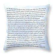 Desiderata 7 Throw Pillow