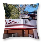 Desoto's Salon Throw Pillow