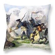 Destroying Villages, 1791 Throw Pillow