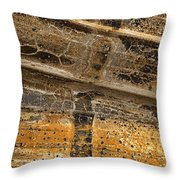 Detail Of Burnt Building Throw Pillow