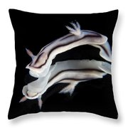 Detailed View Of A Beautiful Nudibranch Throw Pillow