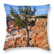 Determined Tree Throw Pillow