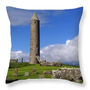 Devenish Monastic Site, Co. Fermanagh Throw Pillow