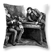 Dickens: Martin Chuzzlewit Throw Pillow