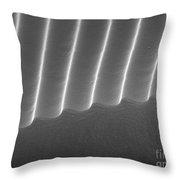 Diffraction Grating Sem Throw Pillow