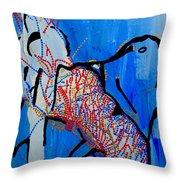Dinka Corset - Manlual - South Sudan Throw Pillow