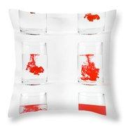 Dissolving Dye Throw Pillow