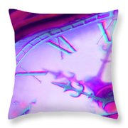 Distorted Time Throw Pillow