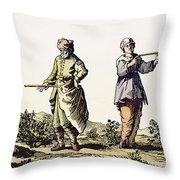Divining Rod, 17th Century Throw Pillow