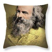 Dmitri Mendeleev, Russian Chemist Throw Pillow