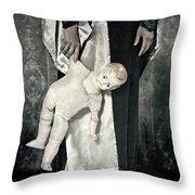 Doll Throw Pillow by Joana Kruse