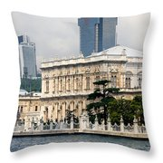 Dolmabahce Palace In Istanbul Throw Pillow