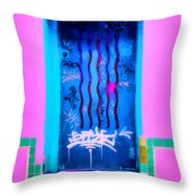 Doors Of Oaxaca Throw Pillow