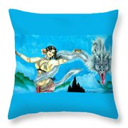 Dragon Dancer Throw Pillow