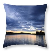 Dramatic Sunset At Lake Throw Pillow