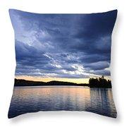 Dramatic Sunset At Lake Throw Pillow