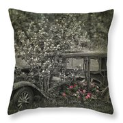 Driven To Find Love  Throw Pillow