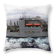 Dry Cargo And Ammunition Ship Usns Throw Pillow