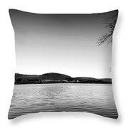 Dryden Lake New York Throw Pillow