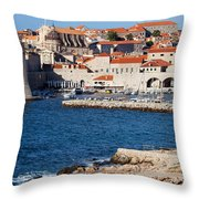 Dubrovnik Old City Architecture Throw Pillow
