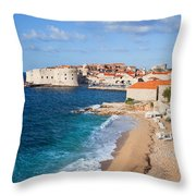 Dubrovnik Scenery Throw Pillow