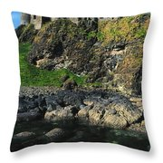 Dunluce Castle, Co Antrim, Ireland Throw Pillow