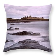Dunstanburgh Castle Throw Pillow