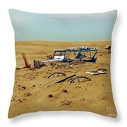 Dust Bowl Throw Pillow by Omikron