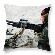 Dutch Royal Marines Taking Part Throw Pillow