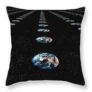 Earth Pattern Throw Pillow