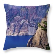 East Rim Of Crater Lake Throw Pillow