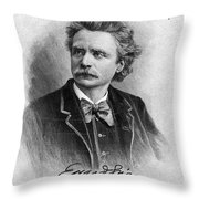 Edvard Grieg (1843-1907) Throw Pillow