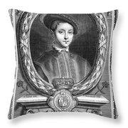 Edward Vi (1537-1553) Throw Pillow