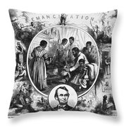 Effects Of Emancipation Proclamation Throw Pillow by Photo Researchers