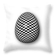 Egg Checkered Throw Pillow