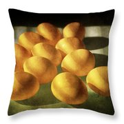 Eggs Lit Through Venetian Blinds Throw Pillow