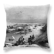 Egypt: Nile Scene Throw Pillow
