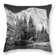 El Capitan And Merced River Throw Pillow