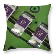 Electronics Board With Lead Solder Throw Pillow